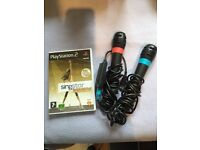 PlayStation Singstar Disc and Microphones