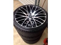 "New 19"" OEM FS-9 Alloys with new tyres"
