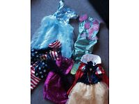 Dress up bundle Age5-6. Cinderella, little mermaid, snow white