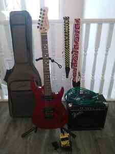 Rock Collection- Godin guitar, Fender Amp, Boss pedal, and exc.