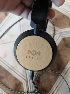 Marley Headphones, real wood & leather!