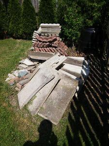 garden edging and patio stones