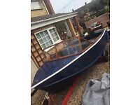 13ft River/sea boat with trailer and engine