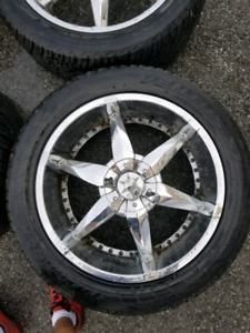 "22"" CHROME RIMS FOR DODGE RAM"