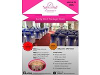 Decor Hire and venue dressing package deal/ Centrepiece/chair cover/ balloons/cupcakes-SAVE MONEY