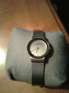 Skagen ladies silver mesh bracelet watch, brand new