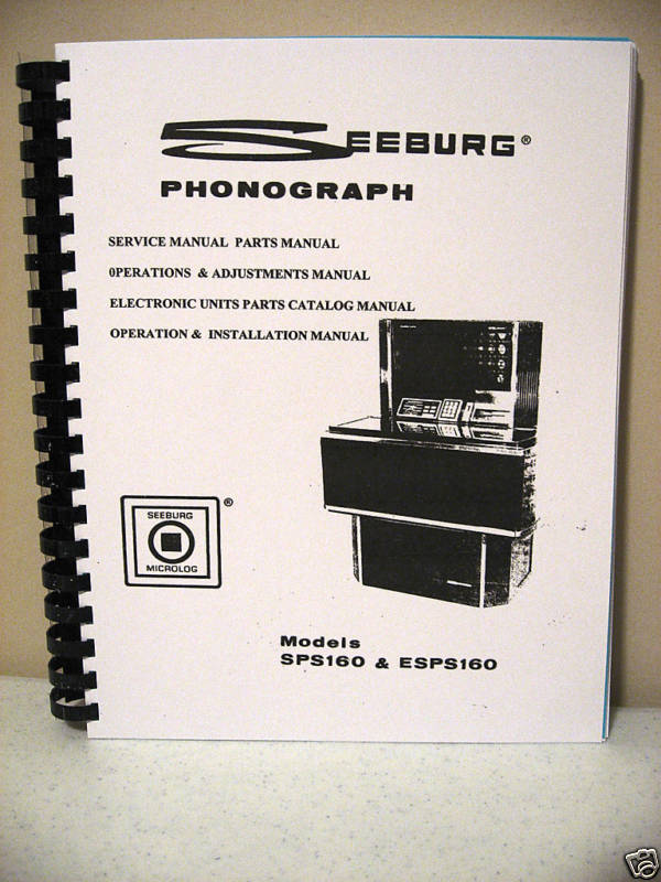 Seeburg Model SPS 160 & ESPS 160 Jukebox Manual