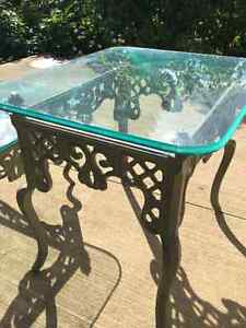 1 Glass Coffee Table and Matching Glass Side Table Kitchener / Waterloo Kitchener Area image 4