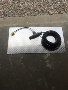 In line heat cable for water line