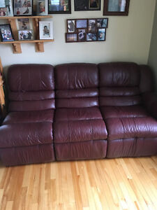 7 piece leather sectional