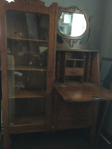 Fabulous Antique Secretary Display Desk