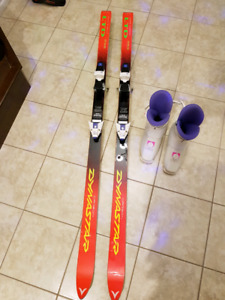 Downhill Skis with boots