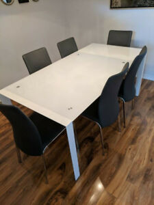 Dining table (Six chairs)