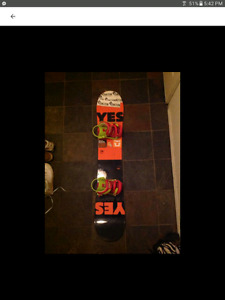 Yes jackpot snowboard with bindings