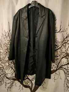 Size 3x Women's 3/4 Leather Coat for sale