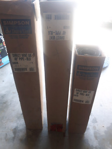 """Direct vent GS  2× 48""""  1× 36""""  stove pipe"""