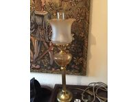 Large beautiful oil lamp