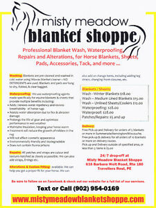 Blanket Wash, Repairs, and Alterations