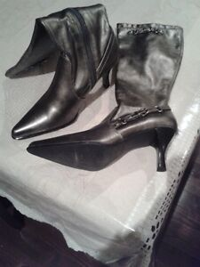 Fioni tall boots with heel (silver)