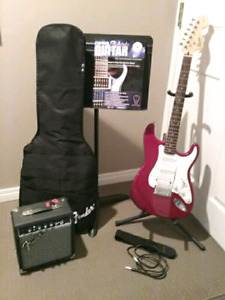 Fender Electric Guitar Setup with Accessories