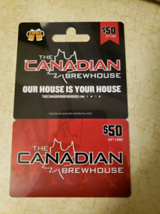 Canadian brewhouse gift card
