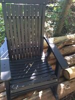 Outdoor Rocking Chair and Matching Side Table
