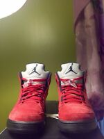 "Air Jordan 5 ""Raging Bulls/Red Suede/Toro"" - Size 9"