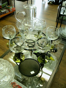 Wine Decanter and 6 Stemed glasses