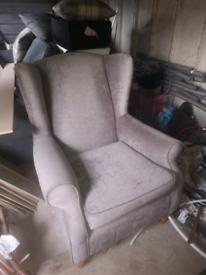 Next Grey Classic Arm Chair