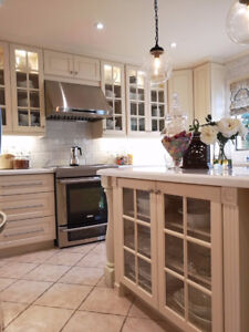 Hurry! All solid wood kitchen cabinets on sale!