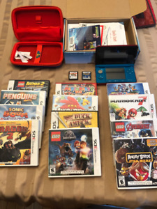 Nintendo 3DS - COMPLETE, cover & 14 GAMES!!