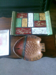 6 pieces of wood dishes  most appear to be teak OR London Ontario image 5