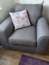 DFS grey armchair