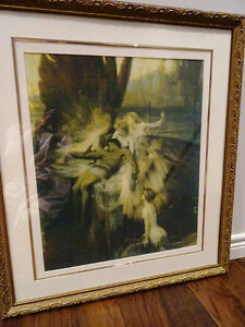 LAMENT FOR ICARUS Herbert Draper PRINT FRAMED nymphs MYTHICAL Cambridge Kitchener Area image 6