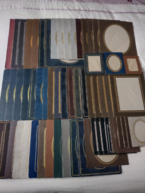 60 Assorted Card Photo Frames all with Integral Stands. Can be viewed!