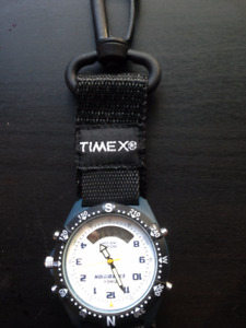 Timex Expedition watch on pendant clip.