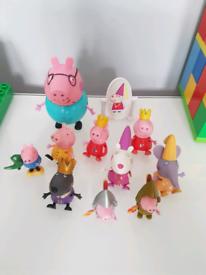 Peppa pig figures set, postage available