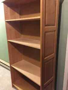 Solid birch and maple bookcase