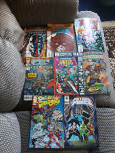 7 comic books 5 bucks each or 20 for them all