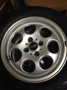 """2005 Mini Cooper Alum wheel and tires  15"""" Kitchener / Waterloo Kitchener Area image 4"""