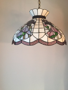 Light fixture in stained glass/Luminaire style Tifany