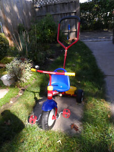 Radio Flyer Deluxe Trike, Steer and Stroll