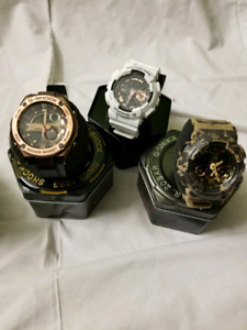 New G shock, Hublot, omega juge collection watches