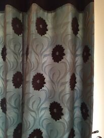 Handmade lined curtains and matching Roman blind (REDUCED)