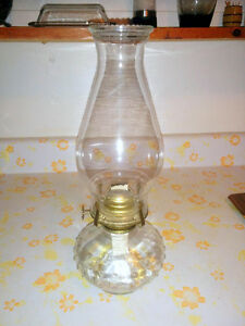 Clear Glass Oil Lamp