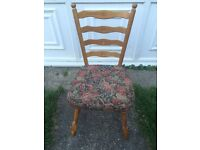 FOUR VINTAGE SOLID WOOD CHAIRS
