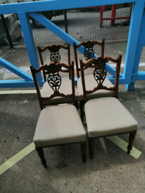 4 Edwardian dining chairs
