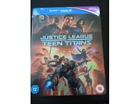 Justice League Vs Teen Titans blu ray steelbook sealed