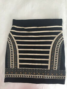 Black and Beige Mini Skirt ($10 OBO)