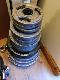 145KG Cast Iron Tri-grip Olympic Weights